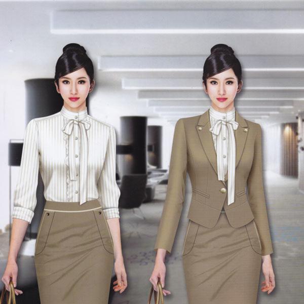韩版女式休闲条纹职业装