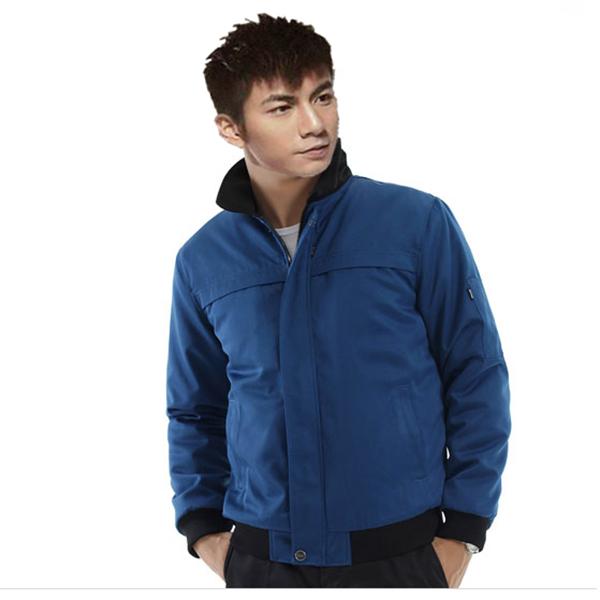 仿丝棉保暖工作服-蓝色