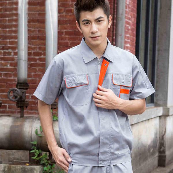铁灰色夏季工作服