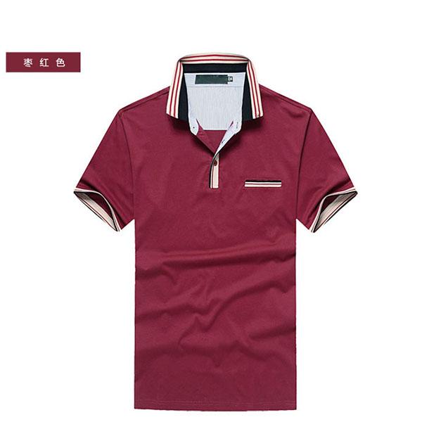 夏季枣红色T恤