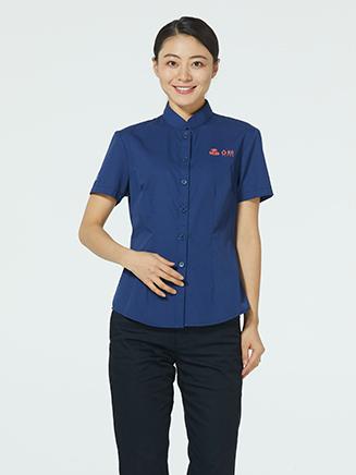 物美服务员衬衫