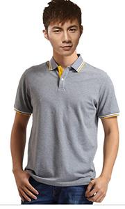 立领工装T恤-灰色