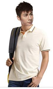 立领工装T恤-米色