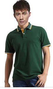 立领工装T恤-深绿色