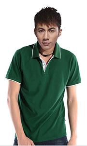 立领工装T恤-绿色