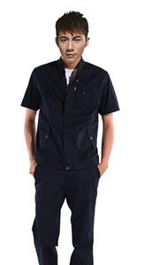 黑色短袖工作服