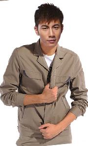 纯棉驼色工作服