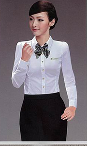 女士长袖修身衬衫