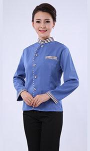 酒店客房保洁服-蓝色