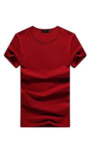夏季红色T恤