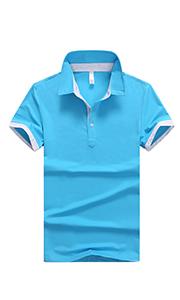 2015夏季新款时尚天蓝色T恤