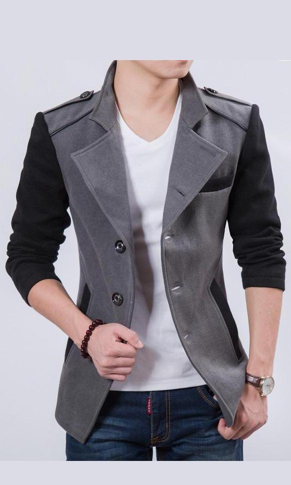 时尚休闲修身夹克