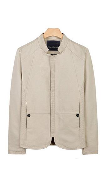 时尚小立领夹克