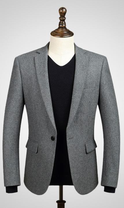 羊毛韩式西装