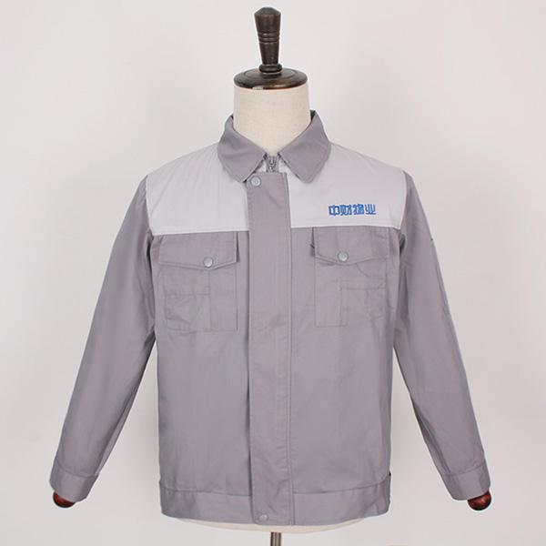 中财物业秋季灰色工服款式图